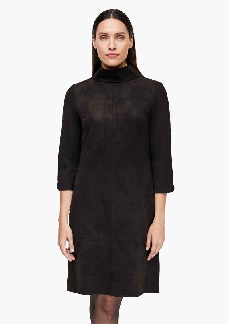 s.Oliver BLACK LABEL Minikleid »Kleid in Veloursleder-Optik«