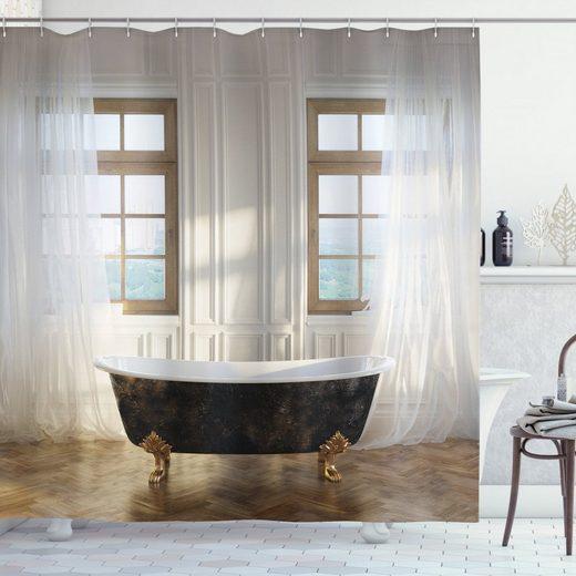 Abakuhaus Duschvorhang »Moderner Digitaldruck mit 12 Haken auf Stoff Wasser Resistent« Breite 175 cm, Höhe 180 cm, Antiquität Badewanne im modernen Zimmer