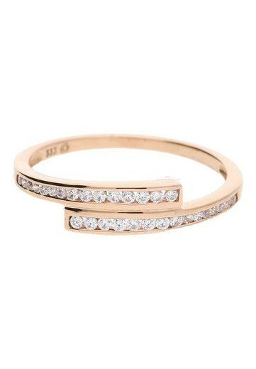 JuwelmaLux Goldring »Ring Gold Damen mit Zirkoniastein(en)« (1-tlg), Rotgold 333/000, inkl. Schmuckschachtel
