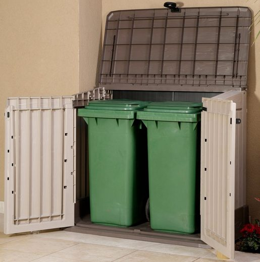 TEPRO Mülltonnenbox »Store It Out MIDI«, für 2x120 l aus Polyprpylen, BxTxH: 132x74x110 cm