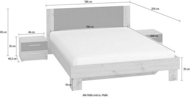 Schlafzimmer Sets - Schlafzimmer Set »Vera«, (3 St)  - Onlineshop OTTO
