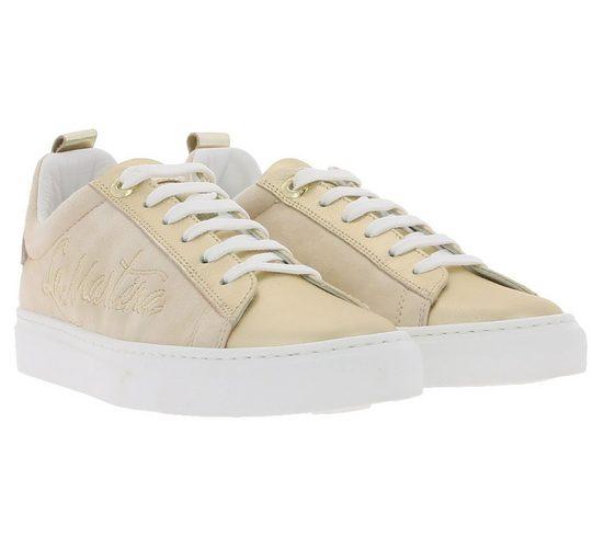 La Martina »LA MARTINA Echtleder-Schuhe stilvolle Damen Sneaker mit rosegoldenen Details und Texturen Freizeit-Schuhe Beige« Sneaker