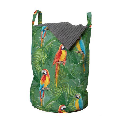 Abakuhaus Wäschesack »Wäschekorb mit Griffen Kordelzugverschluss für Waschsalons«, Urwald Regenwald mit Parrot Vögel