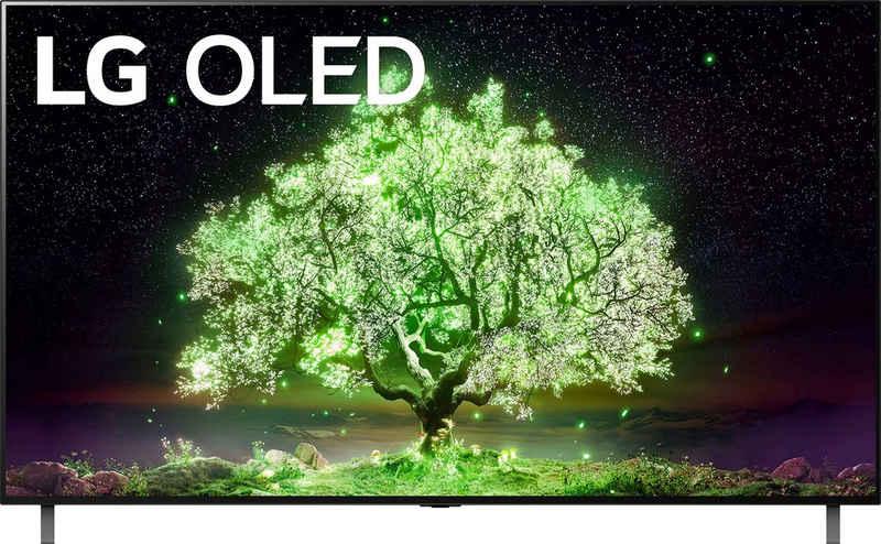 LG OLED77A19LA OLED-Fernseher (195 cm/77 Zoll, 4K Ultra HD, Smart-TV, (bis zu 60Hz), α7 Gen4 4K AI-Prozessor, Sprachassistenten, Dolby Vision IQ™, Dolby Atmos)