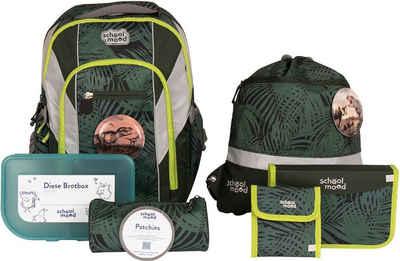SCHOOL-MOOD® Schulrucksack »Loop Air+, Daniel« (Set), mit LED-Patchy; aus recyceltem Material