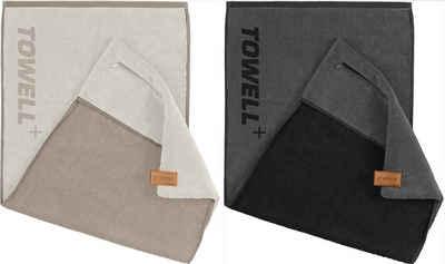 Stryve Sporthandtuch »Sporthandtuch mit Tasche und Magnetclip 2er Set« (2-St)