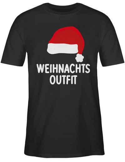 Shirtracer T-Shirt »Weihnachtsoutfit mit Weihnachtsmütze - Weihnachten & Silvester Geschenke - Herren Premium T-Shirt« Neujahrsgeschenke Party Deko