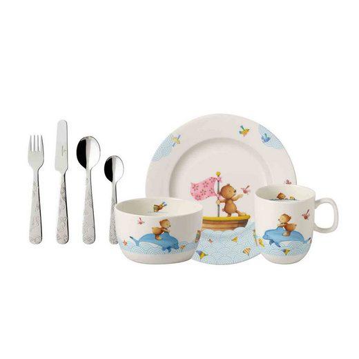Villeroy & Boch Kindergeschirr-Set »HAPPY AS A BEAR Kindergeschirrset 7-tlg« (7-tlg), Porzellan