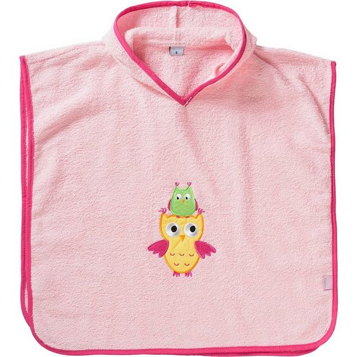 Badeponcho »Frottee-Poncho Eule«, Playshoes
