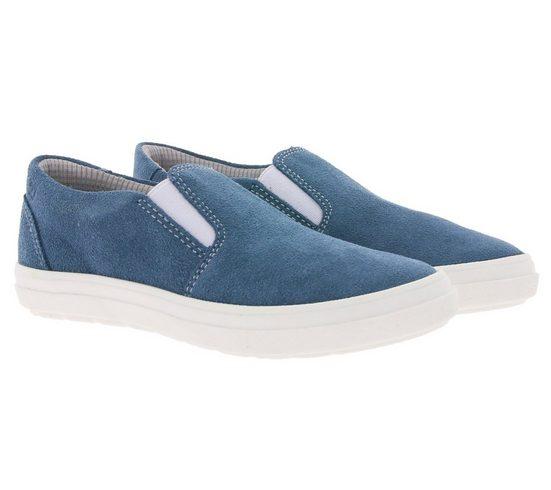 Richter »RICHTER Sommer-Schuhe schöne Kinder Echtleder-Slipper Sommer-Schuhe im modernen Look Blau« Slipper