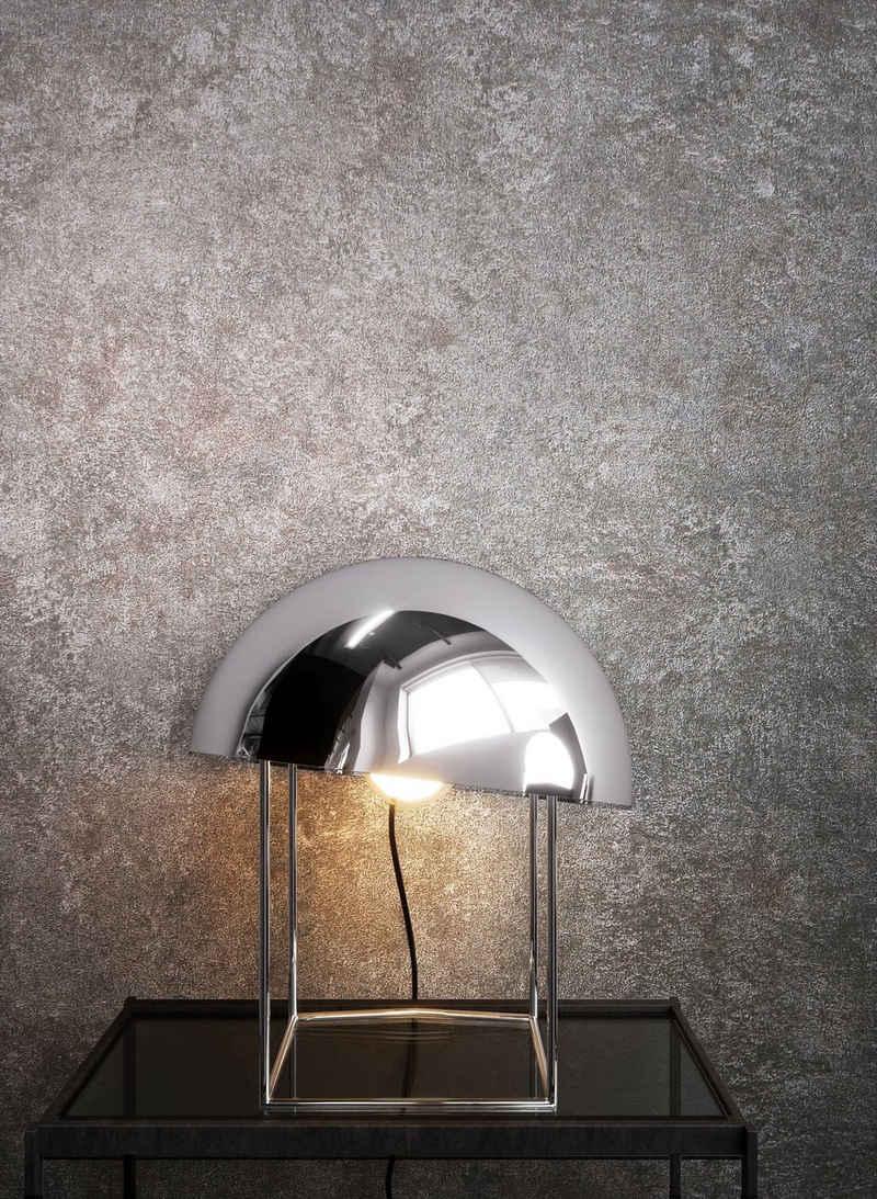 Newroom Vliestapete, Grau Tapete Uni Beton - Putz Betontapete Betonoptik Putzoptik Modern Industrial für Wohnzimmer Schlafzimmer Küche