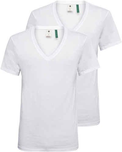 G-Star RAW V-Shirt »Base htr v t s/s 2-pack« (Packung, 2-tlg., 2er-Pack)