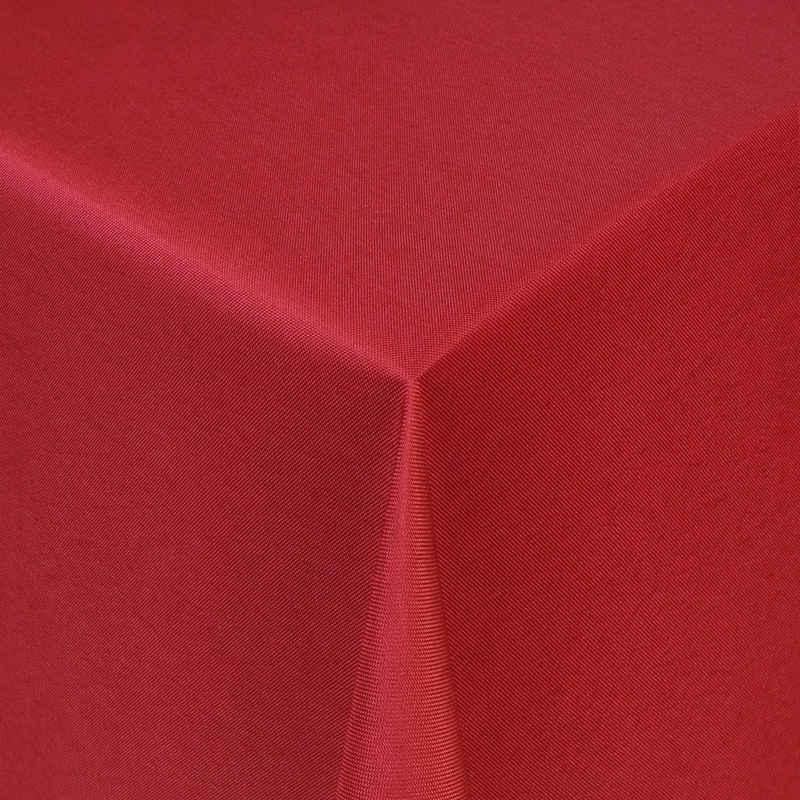 Moderno Tischdecke »Tischdecke Stoff Damast Uni Design Jacquard mit Saum«, Eckig 80x80 cm