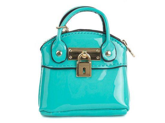 JSI Schlüsselanhänger »Handtasche« (1-tlg), Die Handtasche in Lackoptik kann geöffnet werden.