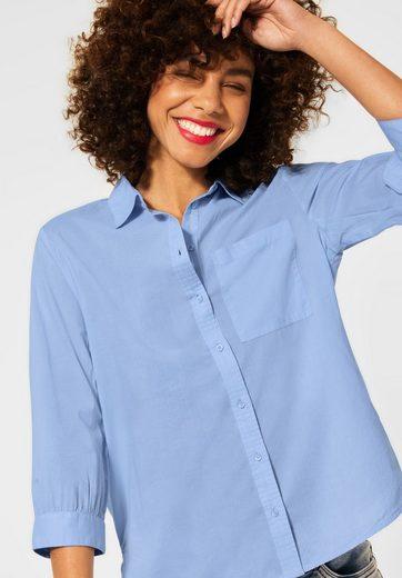 STREET ONE Hemdbluse mit Brusttaschen und Knopfleiste