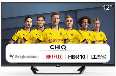 ChiQ L42G6F LED-Fernseher (105,00 cm/42 Zoll, Full HD, Smart-TV, Android9.0,Google Assistant,Play store,Netflix,Youtube,Amazon prime video,Dolby Audio,Chromecast built-in,Bluetooth5.0,Frameless,AI Pont,HbbTV2.0,Google Smart Home,funktioniert mit dem Google Ökosystem,WiFi)