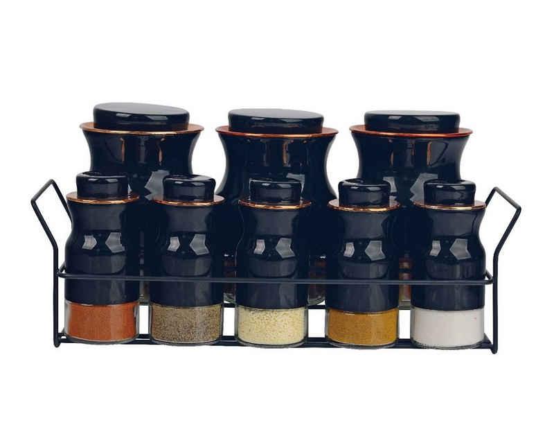 ZELLERFELD Vorratsdose »Trendmax 8-Teiliges Vorratsbehälter Vorratsdosen Baharatlik Gewürz-Set Aufbewahrungsgläser mit Behälter«