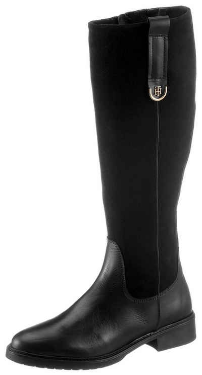 Tommy Hilfiger »TH HARDWARE SUEDE LONGBOOT« Stiefel im Materialmix