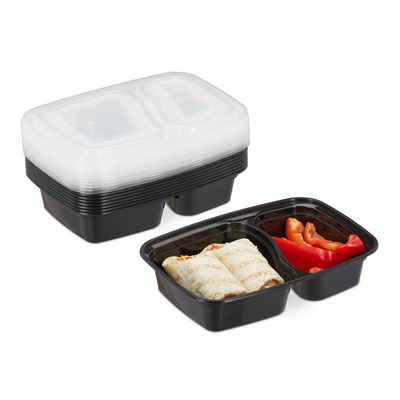 relaxdays Lunchbox »10er Set Meal Prep Boxen 2 Fächer«, PP, (10er Set)