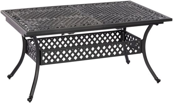 MERXX Gartentisch »Athos«, Aluminiumguss, ausziehbar, 160(204)x93 cm