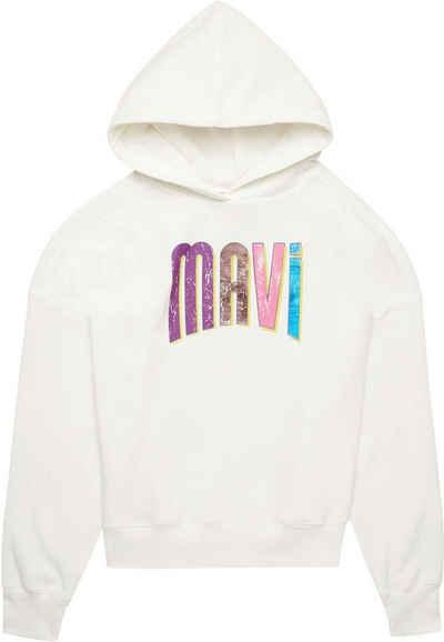 Mavi Sweatshirt mit großem Logodruck vorne