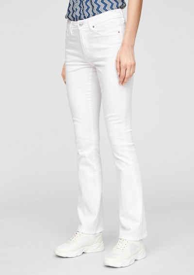 s.Oliver 5-Pocket-Jeans »Slim Fit: Bootcut leg-Jeans« Waschung, Leder-Patch