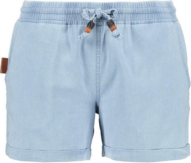 Hosen - Alife Kickin Shorts »JaneAK« kurze Hose in hochwertiger Denim Elasthan Stretchqualität › blau  - Onlineshop OTTO