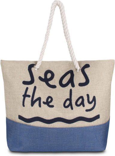 normani Strandtasche »Sommer-Umhängetasche, Strandtasche«, Schultertasche als Henkeltasche tragbar