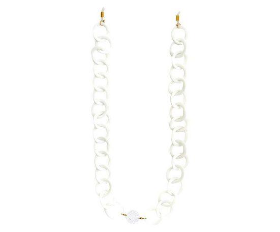 Gemshine Gliederkette »Brillenkette für Sonnenbrille, Lesebrille, Weiß«, Made in Spain