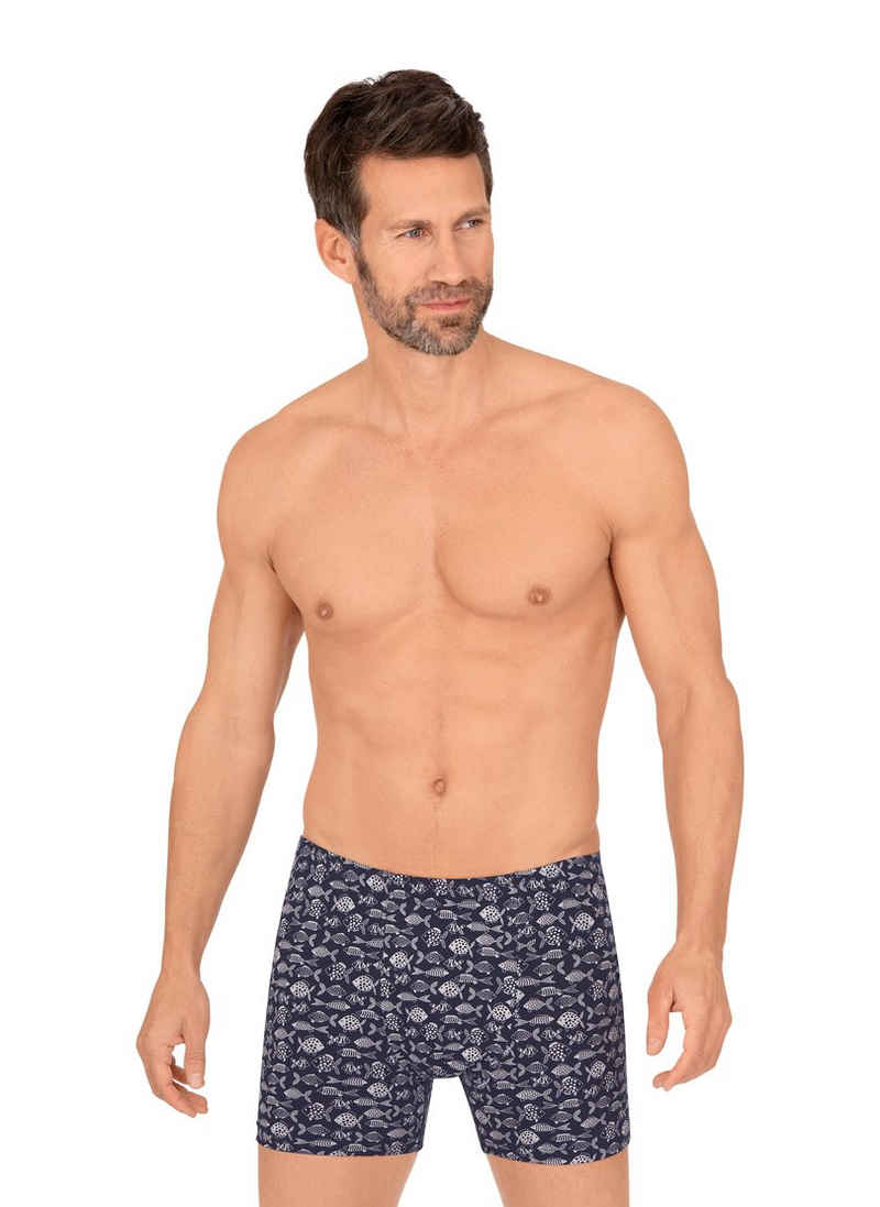Trigema Boxershorts mit maritimem Muster