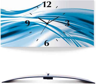 Artland Wanduhr »Schöne Welle - Abstrakt« (3D Optik gebogen, silber-metallic, lautlos, ohne Tickgeräusche, nicht tickend, geräuschlos - wählbar: Funkuhr o. Quarzuhr, moderne Uhr für Wohnzimmer, Küche etc. - Stil: modern)