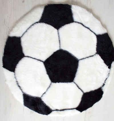 Teppich »Fußball Teppich 70 cm Bundesliga Fan Bereich«, Mr. Ghorbani, Rund, Höhe 3 mm