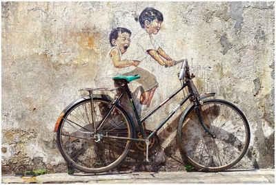 Art & Pleasure Acrylglasbild »Street art bicycle«, Fahrzeuge