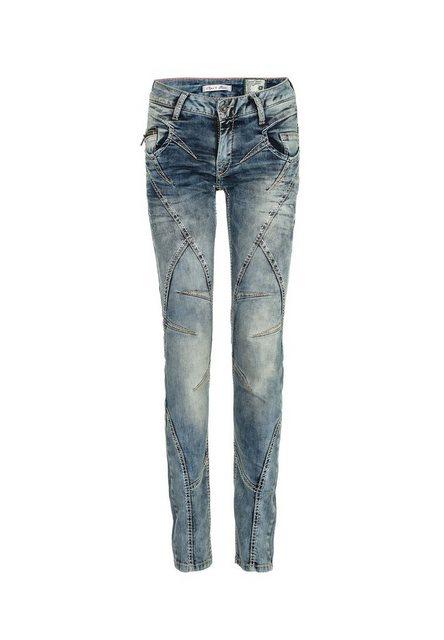 Hosen - Cipo Baxx Slim fit Jeans mit Ziernähten in Straight Fİt ›  - Onlineshop OTTO