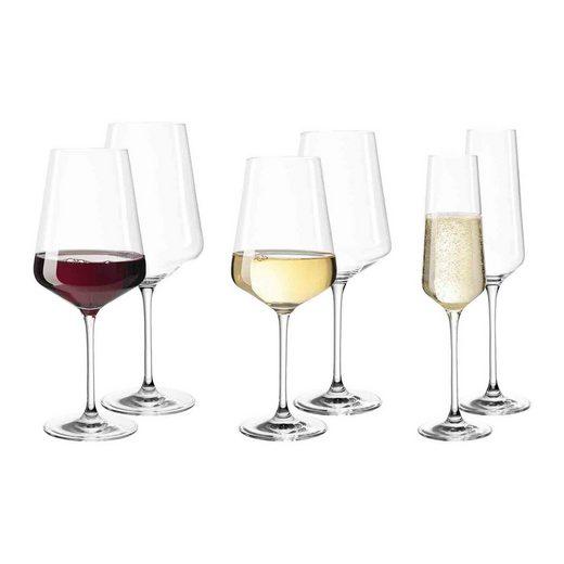 LEONARDO Gläser-Set »PUCCINI Weinglas Sektglas 6er Single-Set« (6-tlg)