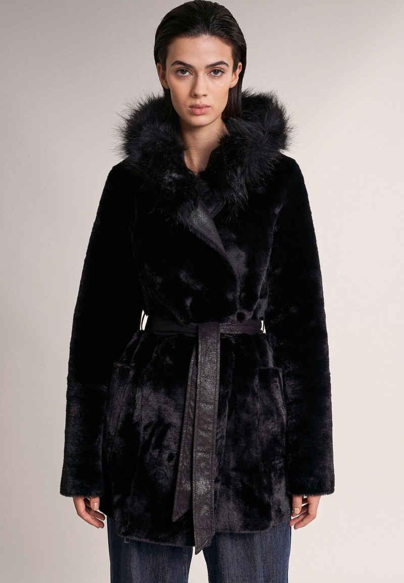 Salsa Wintermantel »RUSSIA« faux fur, Jacke, slim, Unifarben