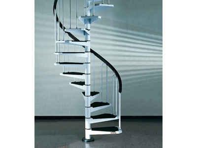 Fontanot Spindeltreppe »AF26«, für Geschosshöhen bis 258 cm, Stufen offen, Ø: 100 cm