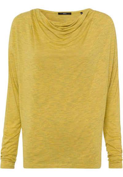 Zero T-Shirt »mit Wasserfallausschnitt« Plain/ohne Details
