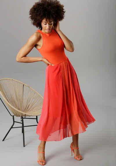 Aniston SELECTED Sommerkleid in Knallfarben