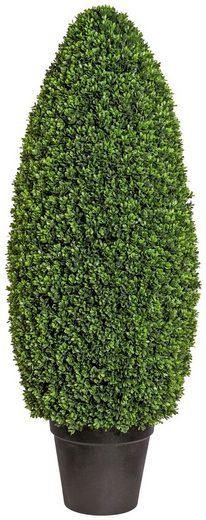 Kunstpflanze »Buchsbaumsäule im Formschnitt«, im Kunststofftopf, ØxH: 40x105 cm