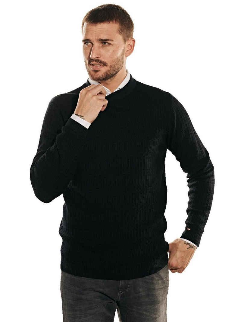 emilio adani Rundhalspullover »Pullover aus Merinowolle«
