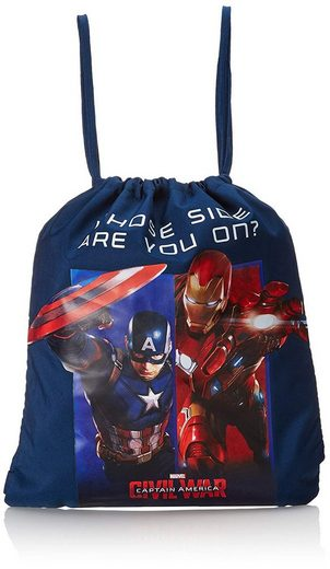 The AVENGERS Sporttasche »Marvel Avengers - Captain America - Sportbeutel, 40x35 cm« (Jungen), Geringes-Gewicht