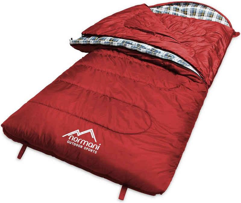 normani Deckenschlafsack »4-in-1 Schlafsack Antarctica«, Extrem 4-Jahreszeiten Outdoor-Schlafsack mit Inlett (Hüttenschlafsack) [+27°C bis -40°C] - RV Rechts