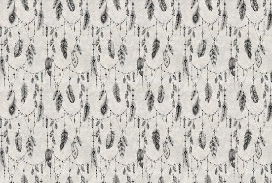 Architects Paper Fototapete »Atelier 47 Boho Feather 2«, glatt, mehrfarbig, (4 St)