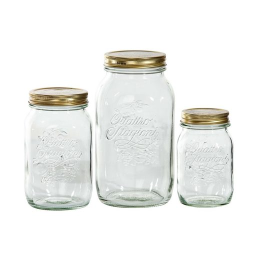 BUTLERS Vorratsglas »QUATTRO STAGIONI Aufbewahrungsglas-Set«, Glas