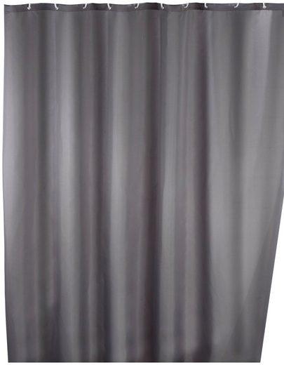 WENKO Duschvorhang »Uni Grey« Breite 180 cm, Höhe 200 cm, waschbar