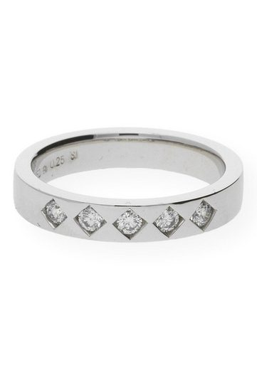 JuwelmaLux Diamantring »Ring Gold Damen und Herren mit Diamant(en)« (1-tlg), Weißgold 750/000, inkl. Schmuckschachtel