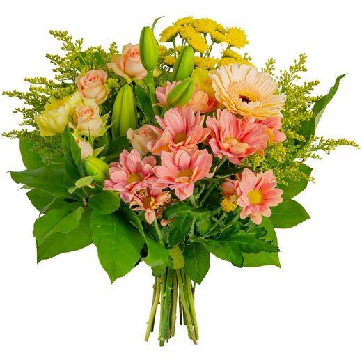 FLOWRFRAME Blumenstrauß, mit 12 bunten gemischten Blumen ohne Vase