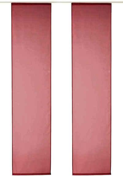Schiebegardine »Xanten«, my home, Klettband (2 Stück), Inkl. Befestigungszubehör, Breite 57 cm