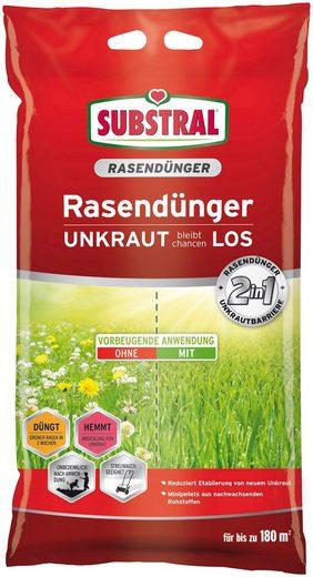 Scotts Substral Rasendünger »2 in 1 UNKRAUT bleibt chancenLOS«, 9,1 kg